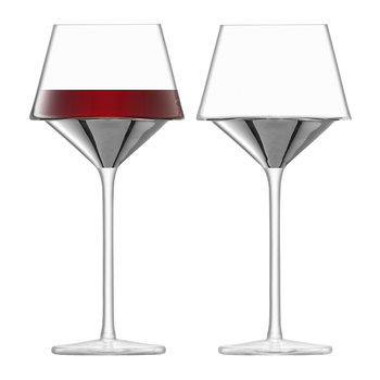Space Wine Goblet - Set of 2 - Platinum