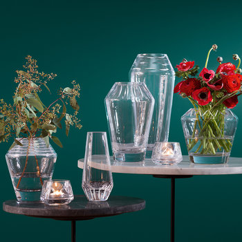 Frieze Lantern/Vase - Clear