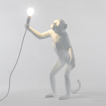 Monkey Lamp - Standing - White