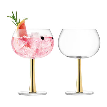 Gin Balloon Glass - Set of 2 - Gold