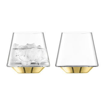Space Wasser-/Weinglas - 2-teiliges Set - Gold