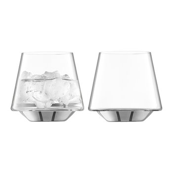 Space Water/Wine Glass - Set of 2 - Platinum