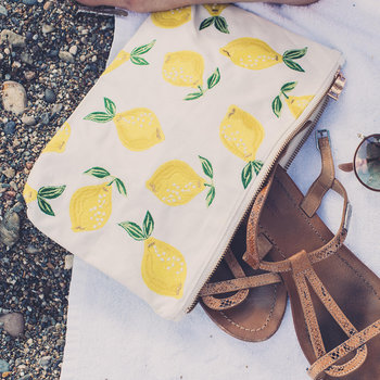 Lemon Travel Pouch - Blanc