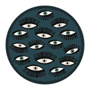 an-eye-for-an-eye-multi-round-vinyl-floor-mat-teal