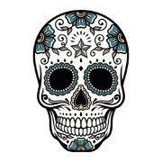an-eye-for-an-eye-skull-vinyl-floor-mat-white-teal
