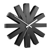 ribbon-wall-clock-black