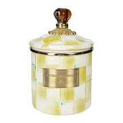 parchment-check-enamel-canister-small