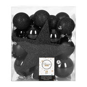 set-of-33-assorted-baubles-and-tree-topper-black