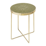 glass-round-side-table-green