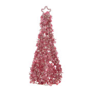 sequin-star-cone-ornament-pink