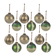 glitter-line-bauble-set-of-12-pine-green-brown