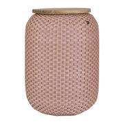 halo-storage-basket-with-wooden-plate-copper-blush