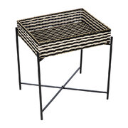 black-white-woven-side-table