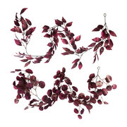 glitter-leaf-garland-set-of-2-burgundy