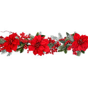 red-poinsettia-garland
