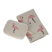 animal-knitted-travel-pouch-with-blanket-flamingo