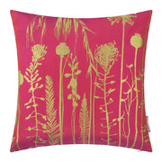 seed-heads-pillow-45x45cm-hot-pink-antique-gold