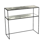 iridescent-glass-console-table