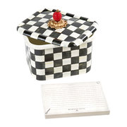 courtly-check-enamel-recipe-box
