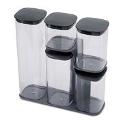 podium-storage-jar-set-with-stand-grey-5-piece
