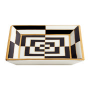 op-art-porcelain-tray-black-white-gold-square