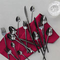 Essentials - Broadway Shiny Black Flatware Set - 24 Piece