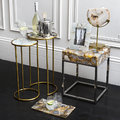 Luxe - Round Mixed Agate Side Tables - Set of 2