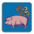 Avenida Home - Puddin' Head - Animaux Coaster - Pig