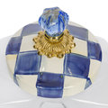MacKenzie-Childs - Cookie Jar with Royal Check Enamel Lid