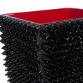 Mike + Ally - Spikes Waste Bin - Black/Red