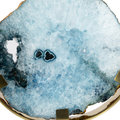 Luxe - Agate Slice Object - Blue