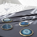 Luxe - Agate Coasters - Set of 4 - Blue