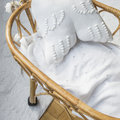 Lorena Canals - Biscuit Knitted Baby Blanket - 90x120cm - White