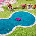 IVI World - Children's 3D Play Rug - Green Play House - 134x200cm