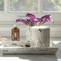 Pigeon and Poodle - Cortona Round Canister - White Shell