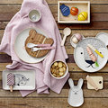 Bloomingville - Wooden Toy Food Set - Natural