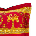 Versace Home - Barocco&Robe Double Face Reversible Cushion - Red/Black/Gold