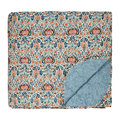 Morris & Co - Little Chintz Quilted Throw - Teal
