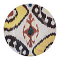Les Ottomans - Ceramic Ikat Dessert Plate - Yellow/Red