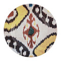 Les Ottomans - Ceramic Ikat Dinner Plate - Yellow/Red