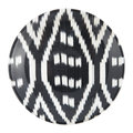 Les Ottomans - Ceramic Ikat Side Plate - Black/White
