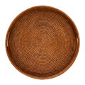 Global Explorer - Round Rattan Tray With Handle