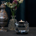 Reflections Copenhagen - Texas Crystal Tealight Holder - Clear/Black