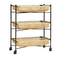 Nordal - Bamboo Weave Trolley with Wheels