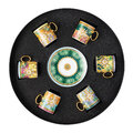Versace Home - Jungle Animal Espresso Cup and Saucer - Set of 6
