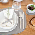 LIND DNA - Hippo Curve Table Mat - Set of 4 - Anthracite