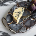 Luxe - Gray Marble Look Resin Cheese Knives - Set of 4