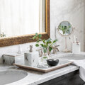 Luxe - Marble Look Soap Dispenser - White