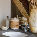Retreat - Frosted Glass Soap Dispenser - Natural
