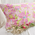 Jessica Russell Flint - Water The Lily Pillowcase - Pink/Green